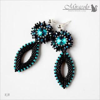 kolczyki z kryształkami / kolczyki fagnano/ rivoli earrings