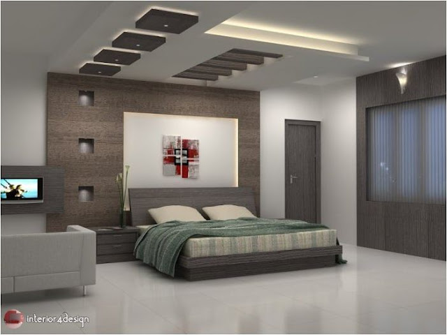 Gypsum Bedroom Designs 19