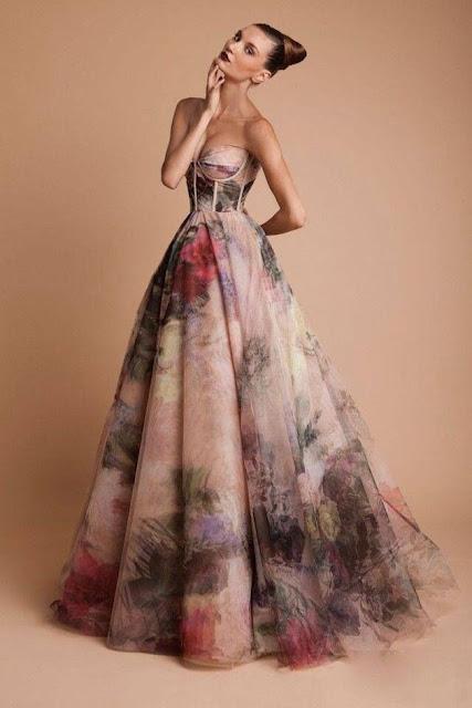 K'Mich Weddings - wedding planning - water color - wedding dress idea