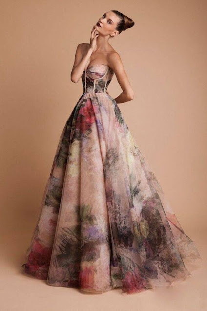 K'Mich Weddings - wedding planning - water color - wedding dress idea