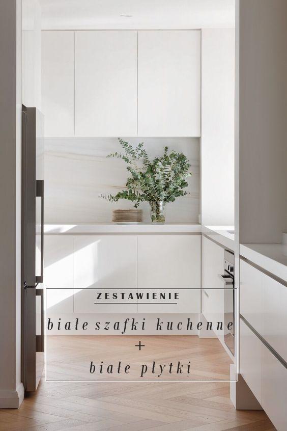 White Grey Pastels Zestawienie Białe Szafki Kuchenne