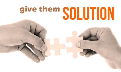 Tips menunjukkan solusi dalam presentasi