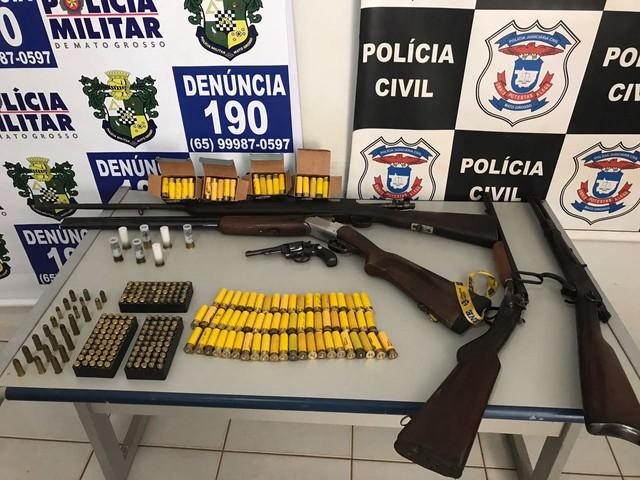 Sargento da PM é preso em quartel de Campo Novo do Parecis por vender armas de fogo
