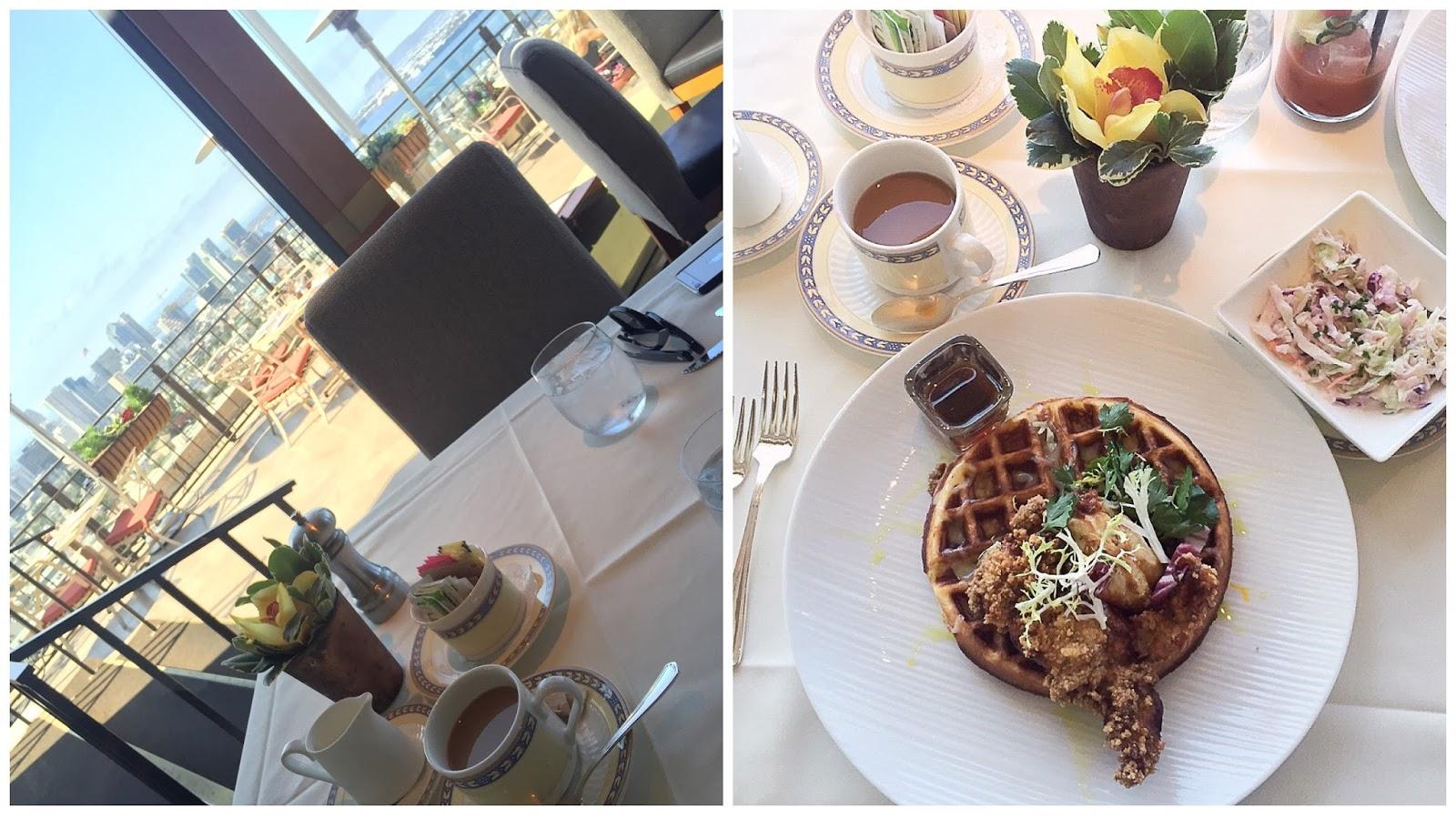 Best views in San Diego, elegant restaurant in san diego, mister a's brunch menu, chicken and waffles mister a's, chicken and waffles in san diego, san diego food blogger