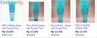 Harga PIXY White Aqua Gel Facial Foam