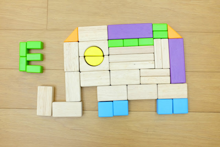 Dimensions and Colors in Life  Building Block Alphabet