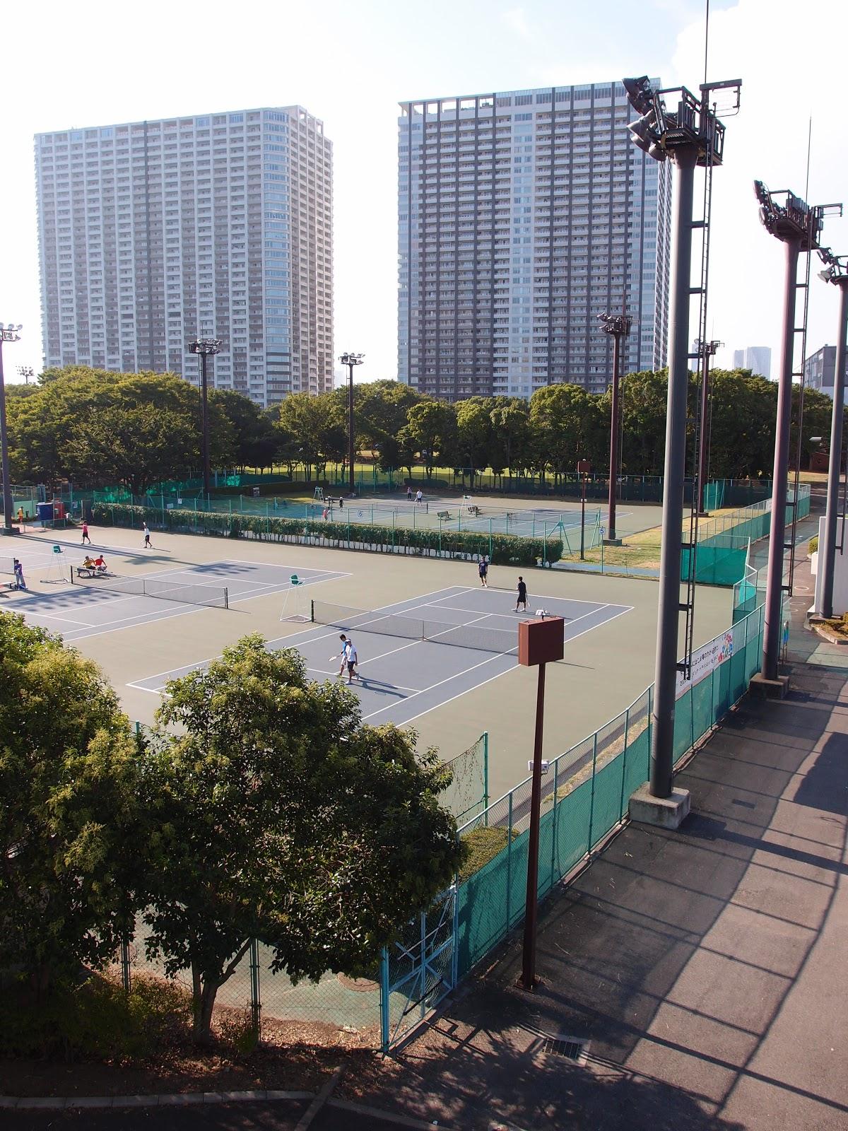 有明テニスの森公園のテニスコート