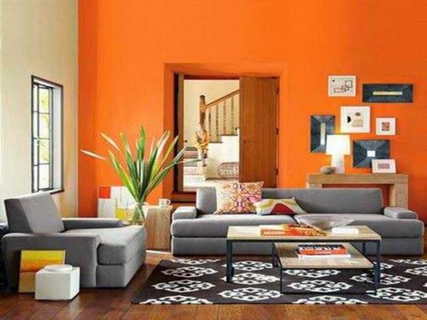 Salas en naranja y gris salas con estilo for Decoracion de salas en gris y amarillo