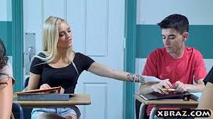 Busty MILF teacher gets with teen couple in her classroom | PornBet
