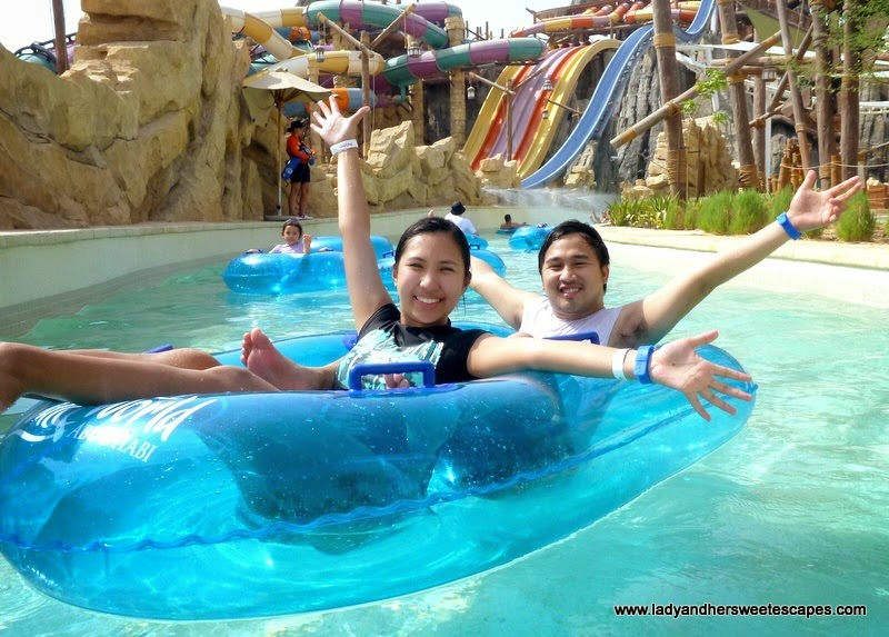 Ed and Lady in Yas Waterworld Abu Dhabi