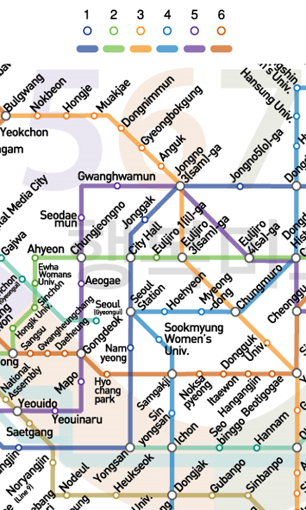 See the Seoul subway lines 1-6 |Street in Korea  Train Map on l train line map, new york f train map, mta r train map, new york train system map, bronx 5 train map, mta f train map, n r train map, mta e train map, ny city train map, subway e train map, new york city train map, l train subway map,