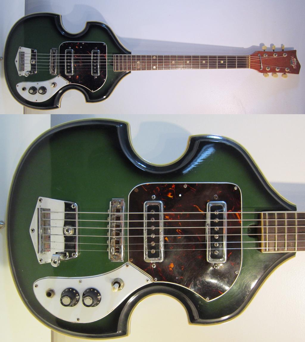 guitar blog vintage 1960s teisco bizarre guitar amazingly cool violin shape rare mod rocker. Black Bedroom Furniture Sets. Home Design Ideas