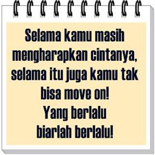 Gamabar dan kata-kata ayo move on biarlah berlalu buat dp bbm