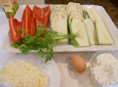Vegetable Lasagna Ingredients
