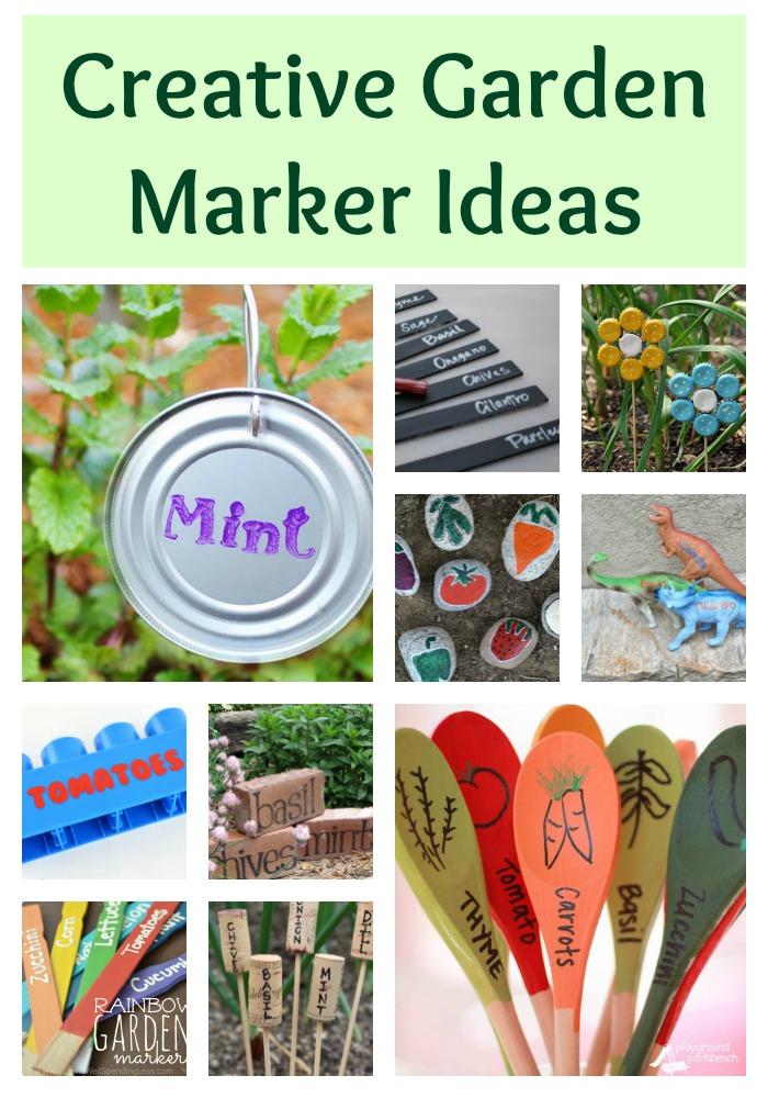 Creative Garden Marker Ideas Building Our Story