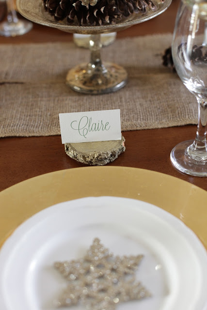 diy place card holders for Christmas