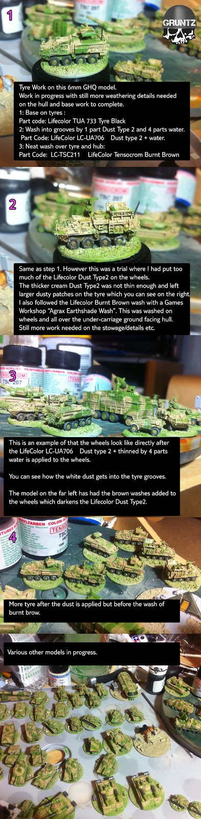 Large image of painted 6mm tanks.