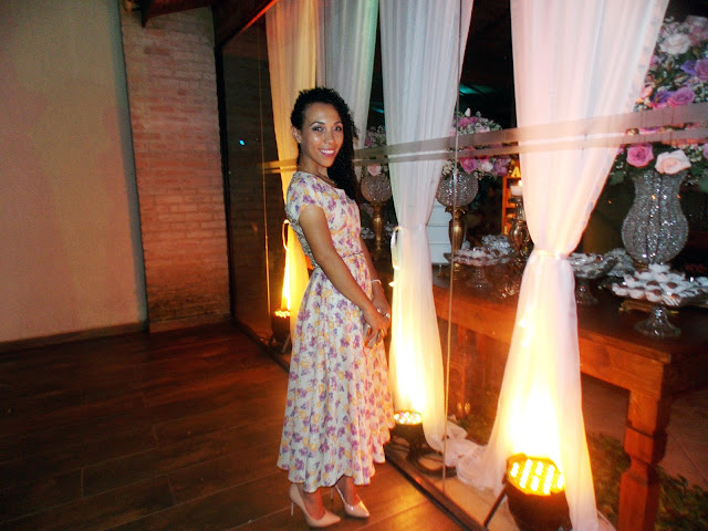 vestido midi, vestido floral, casamento, look romântico