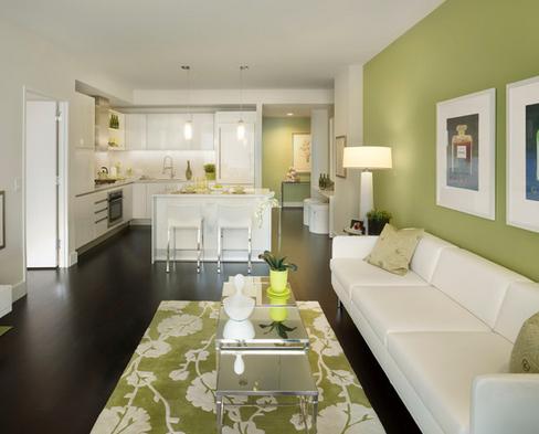 sala parede verde