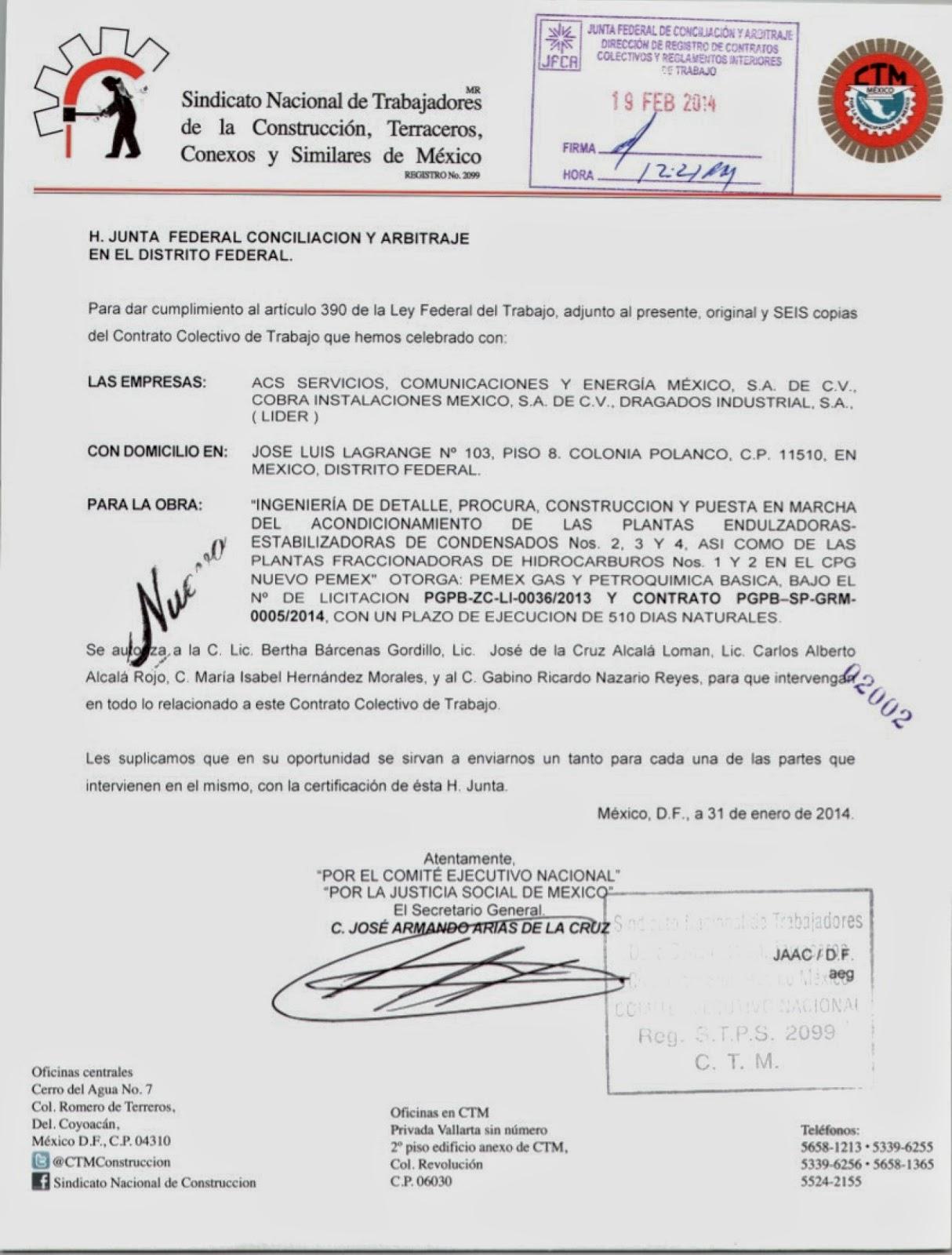 Contrato Colectivo De Trabajo Cpg Nuevo Pemex Enero 2014