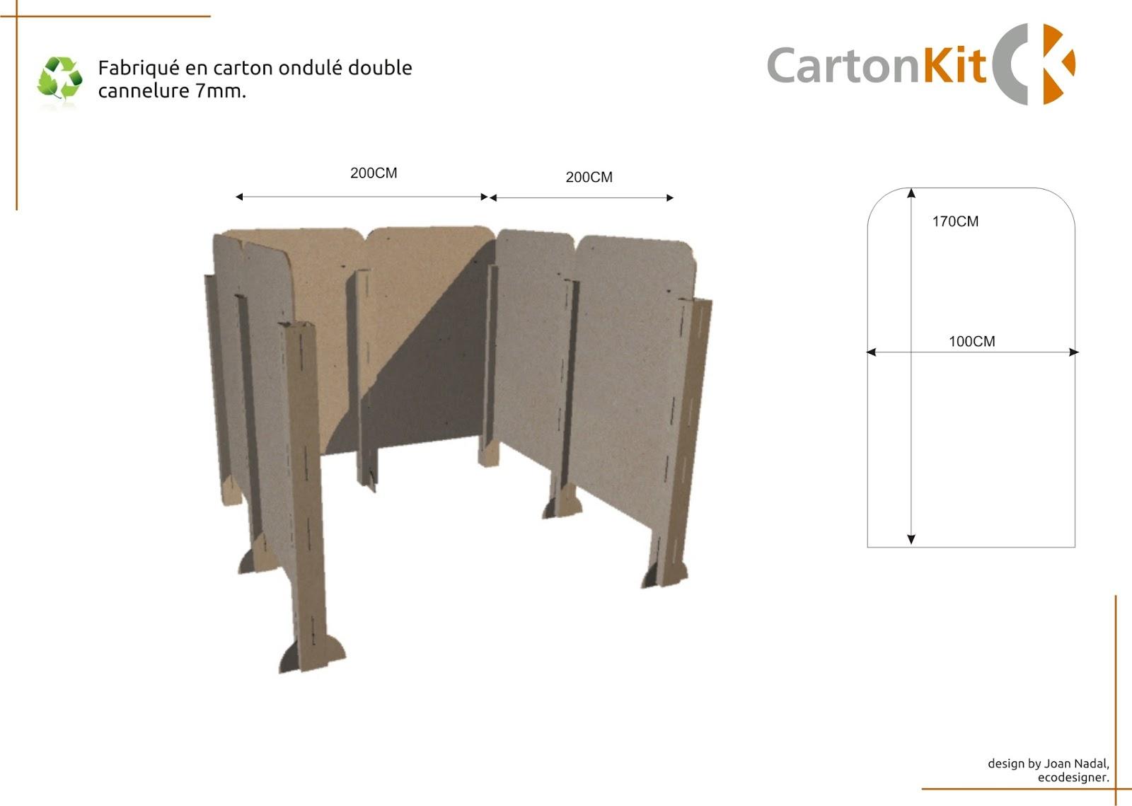 Carton kit cr ations objets et meubles 100 carton for Panneau stand salon