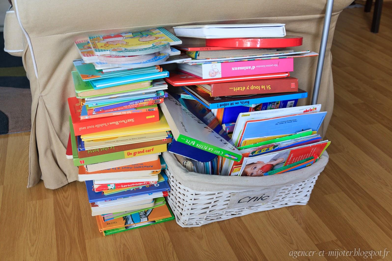 agencer et mijoter rangement les livres d enfants. Black Bedroom Furniture Sets. Home Design Ideas