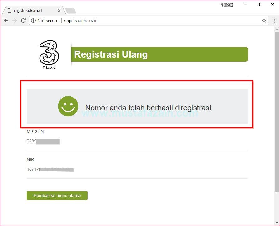 Cara Registrasi Ulang Kartu Prabayar 2017  Mustafa Zain