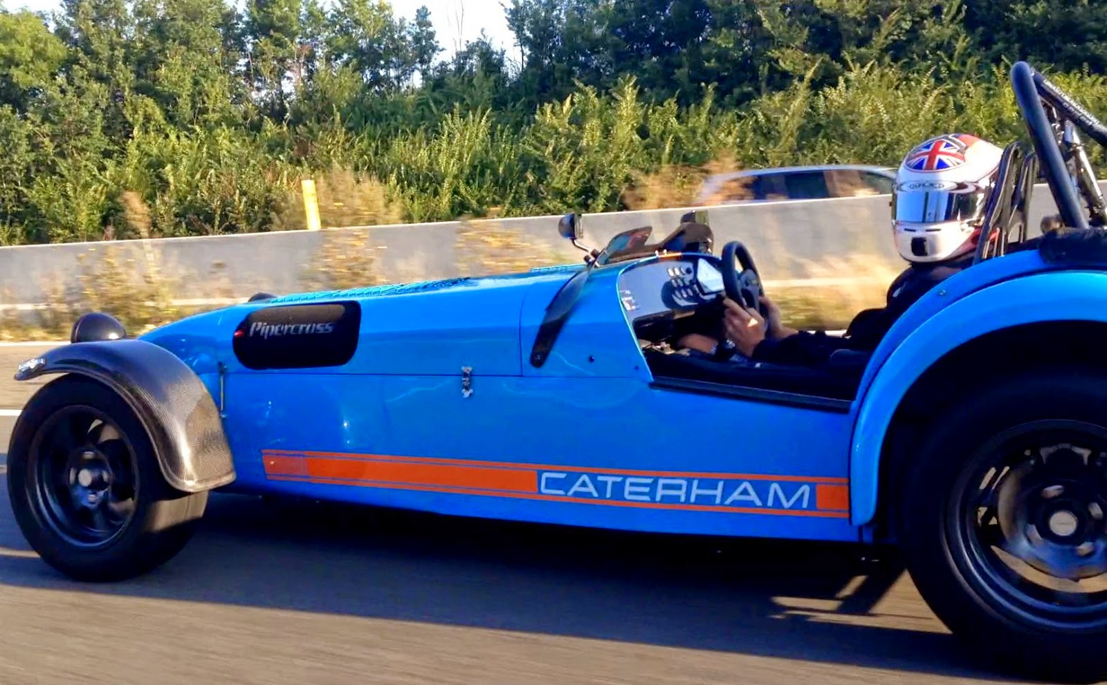Me driving my Caterham R500