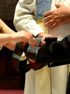 Tying the know with the tartan pattern of both families