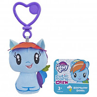 My Little Pony Cutie Mark Crew Rainbow Dash Equestria Girls and Pony Keychain Plush