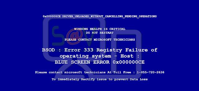 Pcsystemfailed.com pop-ups (Falso soporte)