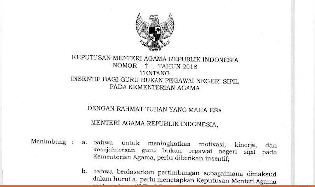 Tunjangan Insnetif Gantikan Tunjangan Fungsional PMA 1 Tahun 2018