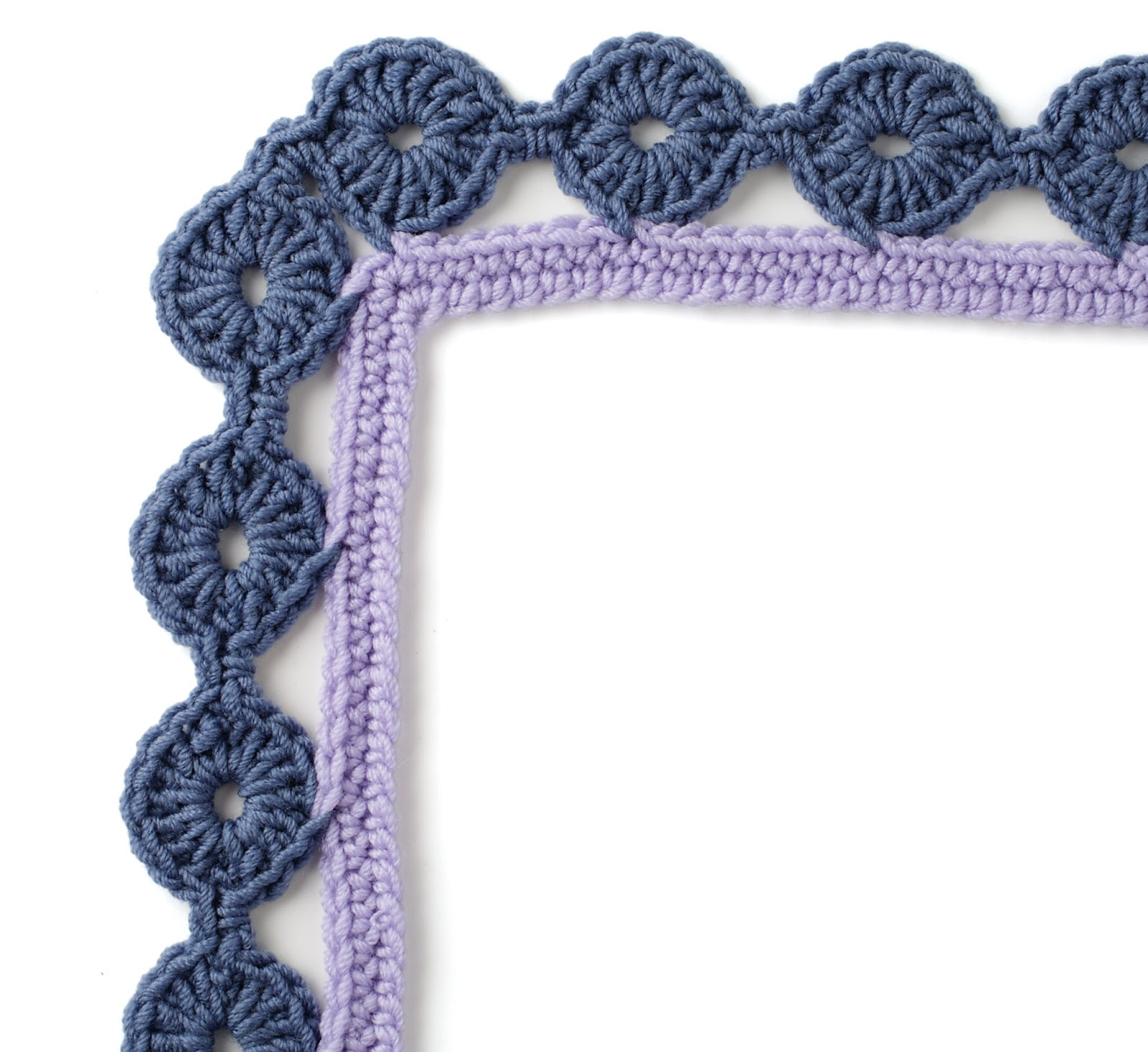 Felted Button - Colorful Crochet Patterns: Free Border Pattern from ...