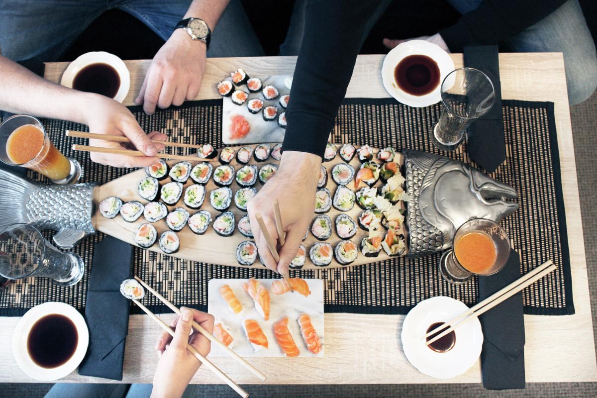 party sushi, sushi domowe, jak zrobic sushi