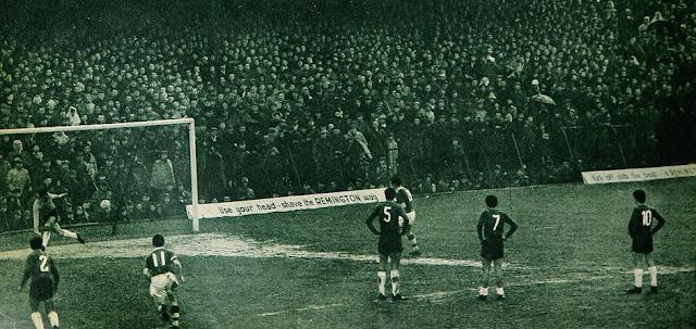 Irlanda y Chile en partido amistoso, 30 de marzo de 1960