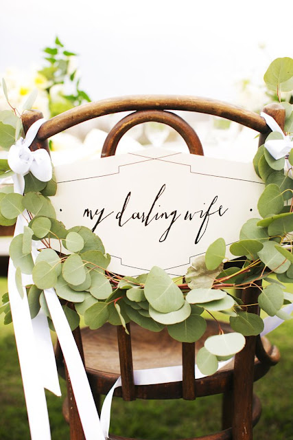 eucalyptus wedding chair covers