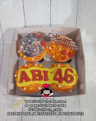 Cupcake Fondant 2D Untuk Anak Cowok, Pacar, Suami