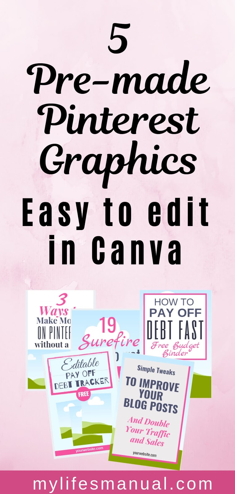 Pinterest templates in Canva. Subscribe to get new pins every month.