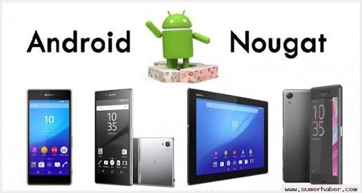 Sony Nougat