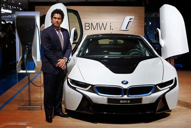 Sachin Tendulkar and BMW i8