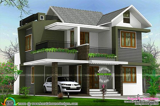 4bhk Floor Plan And Elevation In 5 Cent Kerala Home