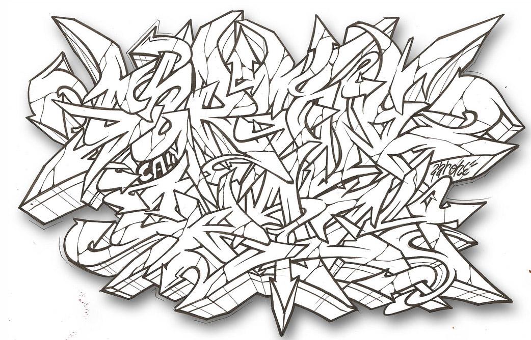 Graffiti Sketches | Best Graffitianz