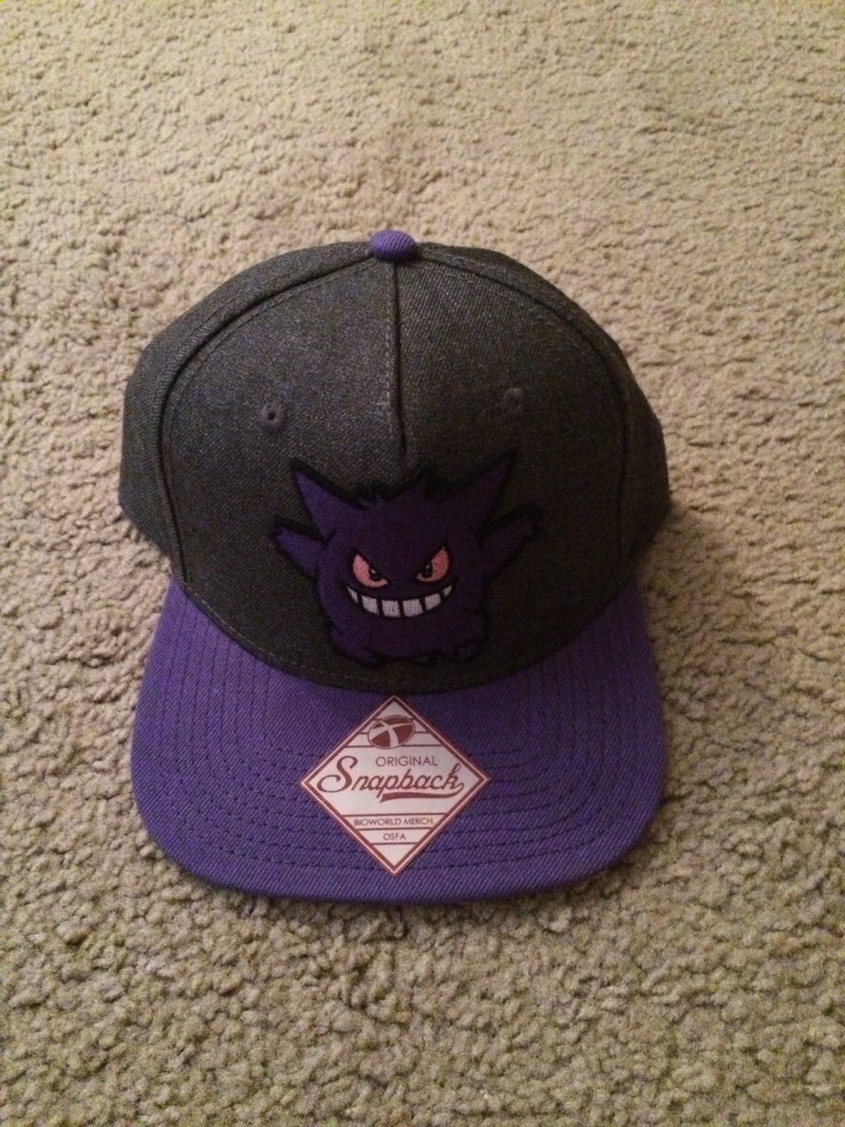 bd364b34262f6 They are snapbacks so you can adjust them so that helps. The Gengar hat  fits a little snugger than the Meowth hat. Every time I go back to Spencer s  ...