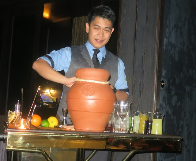 clay pot-aged cocktail