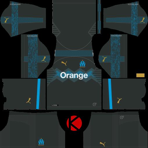 Olympique De Marseille 2018 19 Kit Dream League Soccer Kits