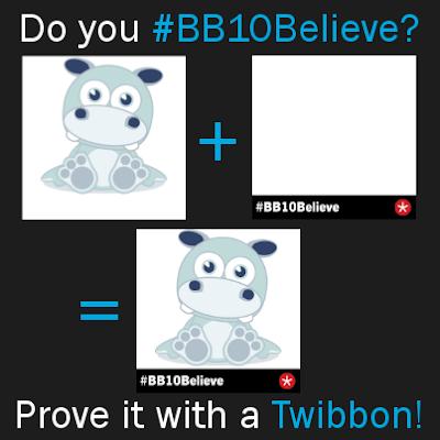 """¿Estas a la espera de BlackBerry 10? RIM ha lanzado una campaña llamada #BB10Believe que proviene de la que es llamada """"10 mil razones para creer"""". Con esta campaña se esta haciendo uso de las redes sociales Facebook y Twitter, con la aplicación Twibbon. Esta aplicación configura tu foto actual de perfil en ambas redes y le agrega la leyenda en la parte de abajo que dice """"#BB10Believe"""" asi te identificarás en que eres un creyente de lo que esta sucediendo con BlackBerry y esperas su llegada. Si quieres únirte a esta campaña visita el siguiente enlace: #BB10Believe Fuente:bberryblog"""