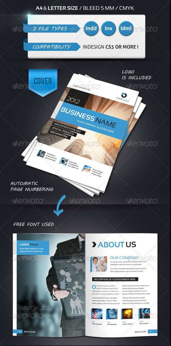 Free Premium Brochure Templates Photoshop PSD InDesign AI - Free indesign brochure templates download