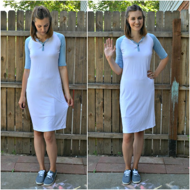 Me Made: DIY Baseball Henley Dress