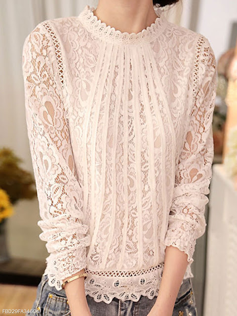lace sweater top