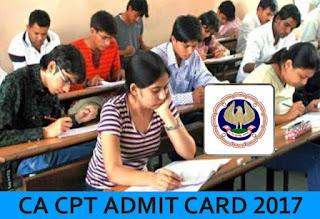 CA CPT Admit Card 2017, CPT Admit Card, ICAI CPT Exam Admit Card 2017